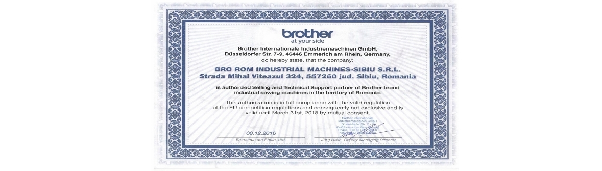 Bro Rom Sibiu - Partener autorizat Brother
