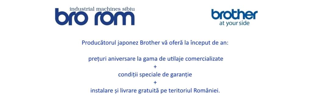 Oferta aniversara a producatorului de utilaje de cusut Brother