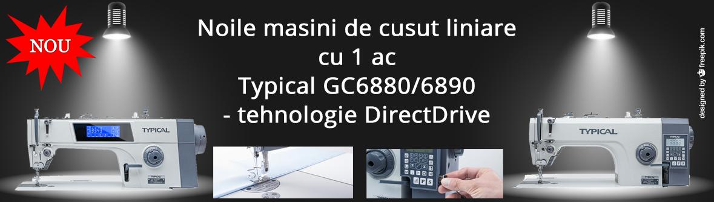Noile masini de cusut liniare cu 1 ac Typical GC6880/6889